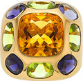 Estate Jewelry:Rings, Citrine, Tanzanite, Peridot, Gold Ring, Chanel. ...
