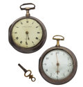 Timepieces:Pocket (pre 1900) , Eardley Norton & F. Compton Silver Pair Cases. ... (Total: 2Items)