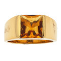 Estate Jewelry:Rings, Citrine, Gold Ring, Cartier. ...