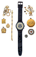 Timepieces:Other , Grab Bag Of Miscellaneous Items. ... (Total: 10 Items)