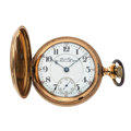 Timepieces:Pocket (post 1900), Duerr Bros. 21 Jewels Hunter's Case Pocket Watch. ...