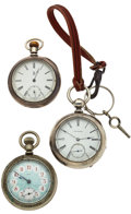 Timepieces:Pocket (post 1900), Two Swiss & A Private Label Pocket Watches. ... (Total: 3 Items)