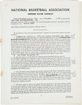 Basketball Collectibles:Others, 1969 Willis Reed Signed New York Knickerbockers NBA Contract....