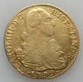 Colombia, Colombia: Charles IV gold 8 Escudos 1799 NR-JJ F/VF Cleaned with Rough Surfaces,...