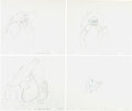 Animation Art:Production Drawing, Lord of the Rings Gandalf Animation Drawing Group (RalphBakshi/United Artists, 1978).... (Total: 12 Original Art)