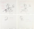 Animation Art:Production Drawing, Orange Bird Animation Layout Drawing Group (Walt Disney, c.1970s-80s)....