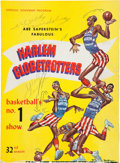 Basketball Collectibles:Programs, 1958-59 Wilt Chamberlain Signed Globetrotters Program &Unsigned 1955 Program....