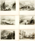 Books:Prints & Leaves, [Great Britain.] Group of Ten Black and White Engravings fromThe Ports, Harbours, Watering-Places, and Coast Sceneryof...