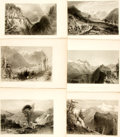 Books:Prints & Leaves, [France.] Group of Twenty-Three Black and White Engraved Plates ofFrench Scenery. London: Geo. Virtue, [various dates c...