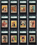"Non-Sport Cards:Sets, 1930s R185 W.S. ""Indian and Western"" Complete Set (48) - #1 on the SGC Set Registry. ..."