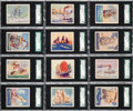 "Non-Sport Cards:Sets, 1930's R135-1 United Candy ""Beautiful Ships"" Complete Set (24) - #1on the SGC Set Registry! ..."