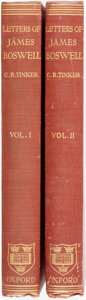 Books:Biography & Memoir, James Boswell. Letters Of James Boswell. Oxford: ClarendonPress, 1924. Krown & Spellman retail: $150. 8vo. ... (Total: 2Items)