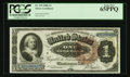 Large Size:Silver Certificates, Fr. 219 $1 1886 Silver Certificate PCGS Gem New 65PPQ.. ...