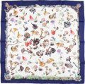 "Luxury Accessories:Accessories, Hermes 90cm Navy Blue & White ""Champignons,"" by Anne Gavarniand Françoise de la Perriere Silk Scarf. Excellent toPristin..."