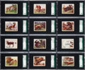 "Non-Sport Cards:Sets, 1933 R71 Planters Nuts ""Hunted Animals"" Complete Set (25) - #1 onthe SGC Set Registry. ..."