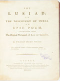 Books:Literature Pre-1900, Luis De Camöens. William Julius Mickle, translator. The Lusiad;or, the Discovery of India. An Epic Poem. Oxford: Ja...