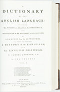 Books:Reference & Bibliography, [Dictionary]. Samuel Johnson. A Dictionary of the EnglishLanguage. New York: Arno Press, 1979. Reprint edition of t...