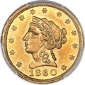 Territorial Gold, 1860 $2 1/2 Clark, Gruber & Co. Quarter Eagle MS63+ PCGS. CAC. K-1, R.4....