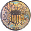 Proof Two Cent Pieces, 1864 2C Small Motto PR65 Brown PCGS....