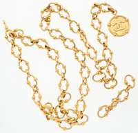 """Chanel Gold Chain CC Belt Good to Very Good Condition 37"""" Max. Length"""