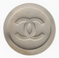 "Luxury Accessories:Accessories, Chanel Pewter CC Brooch . Good Condition. 1.75"" Width x1.75"" Height. ..."
