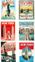 Books:Prints & Leaves, [New York] Group of Twelve Modern Prints Depicting Art Deco Viewsof New York. Measures 13.5 x 14.5 inches. Some unevenness ...