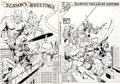 Original Comic Art:Covers, Gil Kane Marvel Treasury Edition #13 Wrap-Around CoverOriginal Art (Marvel, 1976)....