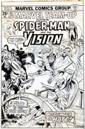 Original Comic Art:Covers, Ed Hannigan and Mike Esposito Marvel Team-Up #42 Spider-Man and Vision Cover Art (Marvel, 1976).... (Total: 2 Original Art)