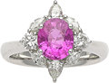 Estate Jewelry:Rings, Pink Sapphire, Diamond, Platinum Ring. ...