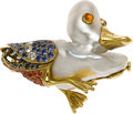 Estate Jewelry:Brooches - Pins, South Sea Cultured Pearl, Sapphire, Diamond, Gold Brooch. ...