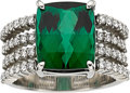 Estate Jewelry:Rings, Tourmaline, Diamond, Platinum Ring. ...