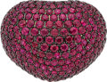 Estate Jewelry:Rings, Ruby, Diamond, White Gold Ring, Wempe. ...