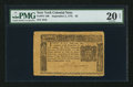 Colonial Notes:New York, Jumbo Margins New York September 2, 1775 $5 PMG Very Fine 20 Net.....