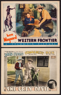 "The Grey Devil & Other Lot (Fox, 1926). Lobby Cards (2) (11"" X 14""). Western. ... (Total: 2 Items)"