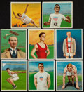 "Olympic Cards:General, 1910-12 T218 Hassan/Mecca ""Series of Champion Athletes & PrizeFighters"" Non-Boxers Complete Set (91). ..."