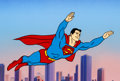 Animation Art:Presentation Cel, Superman Publicity Cel (Ruby/Spears, 1988)....