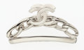 "Luxury Accessories:Accessories, Chanel Silver CC Hair Clip. Excellent Condition. 2.75""Width x 1.5"" Height x 1"" Depth. ..."