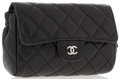 "Luxury Accessories:Accessories, Chanel Black Quilted Lambskin Leather Cosmetic Bag. Excellent Condition. 6"" Width x 4"" Height x 2"" Depth. ..."
