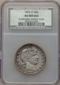 1893-O 50C -- Corroded, Improperly Cleaned -- NCS. AU Details. NGC Census: (3/160). PCGS Population (15/190). Mintage: 1...