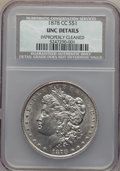 Morgan Dollars, 1878-CC $1 -- Improperly Cleaned -- NCS. Unc Details. NGC Census: (152/15326). PCGS Population (220/22219). Mintage: 2,212,...
