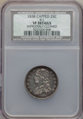Bust Quarters, 1838 25C B-1, R.1, -- Improperly Cleaned -- NCS. VF Details. NGC Census: (10/229). PCGS Population (0/8). Mintage: 366,000....