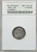 Bust Dimes: , 1834 10C Small 4 -- Cleaned -- ANACS. XF Details, Net VF20. NGCCensus: (7/310). PCGS Population (0/197). Mintage: 635,000....