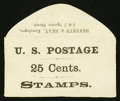 Large Size:Demand Notes, Bennett & Reay 5 & 7 Spring St. NY 25 Cents. PE119.Extremely Fine.. ...