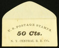Large Size:Demand Notes, New York Central R.R. Co. (Albany) 50 Cts. PE527. Choice New.. ...