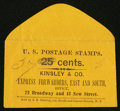 Large Size:Demand Notes, Kinsley & Co. Express Forwarders 72 Broadway (New York) 37 (mss) cents. PE345. Extremely Fine.. ...