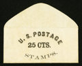 Large Size:Demand Notes, Anonymous U.S. Postage 25 CTS. PE922. Extremely Fine.. ...