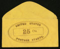 Large Size:Demand Notes, Anonymous United States Postage Stamps 25 Cts. PE907. ExtremelyFine.. ...