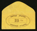 Large Size:Demand Notes, Anonymous United States Postage Stamps 25 Cts. PE907. Choice AboutNew.. ...