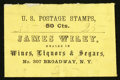 Large Size:Demand Notes, James Wiley 307 Broadway, NY 25 (mss) Cts. PE773. About New.. ...