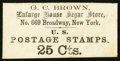 Large Size:Demand Notes, G.C. Brown 699 Broadway New York, NY 25 Cts. PE161. About New.. ...